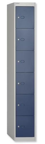 Blue 6 Door Locker