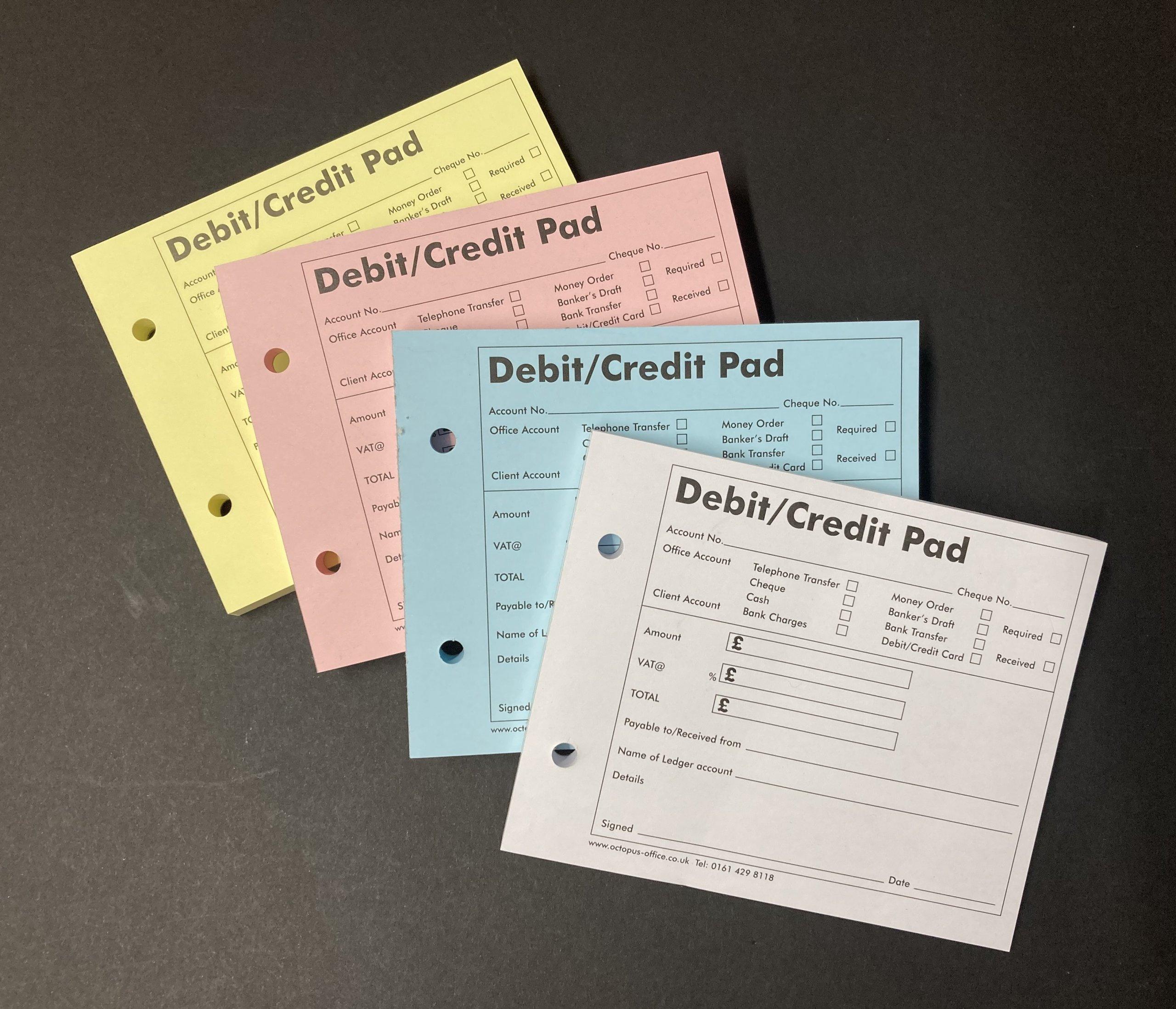 Credit Debit Pads
