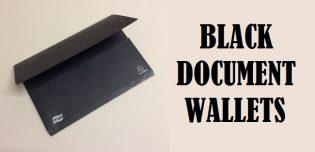 Black Document Wallets