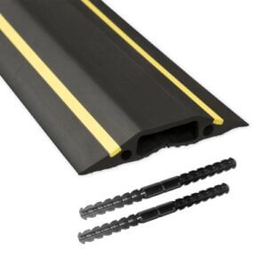Black and Yellow Cable Trunking