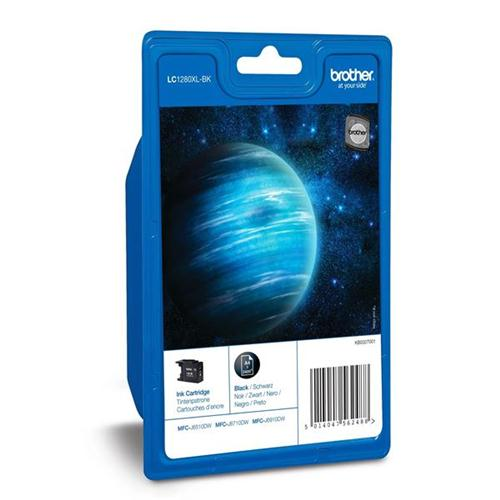 Brother Inkjet Cartridge Page Life 2400pp each Black Ref LC1280XLBKBP2 [Pack 2] | 100356
