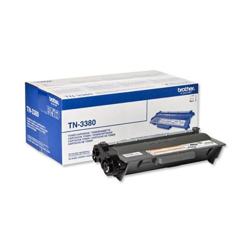 Brother Laser Toner Cartridge High Yield Page Life 8000pp Black Ref TN3380   102157