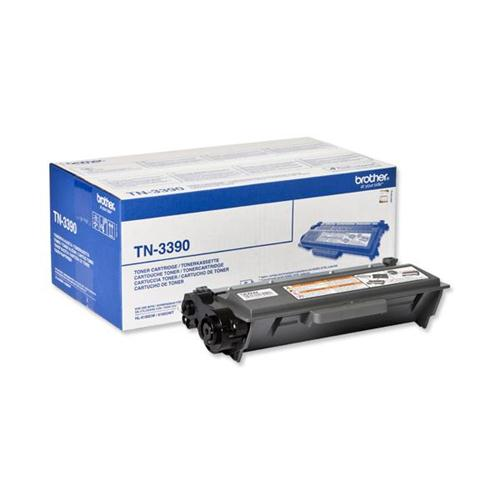Brother Laser Toner Cartridge Super High Yield Page Life 12000pp Black Ref TN3390 | 102158