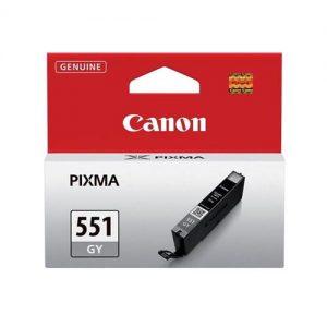 Canon CLI-551GY Inkjet Cartridge Page Life 125 Photos Grey Ref 6512B001   103449