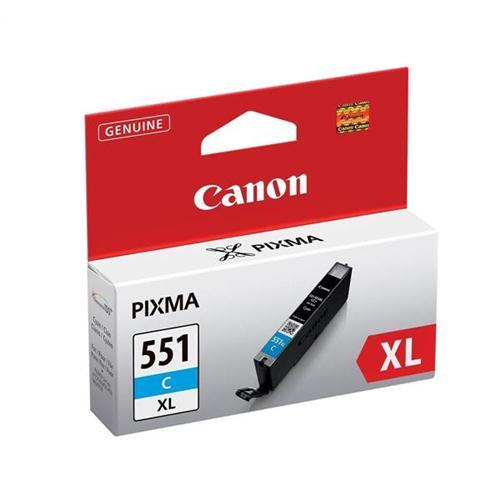 Canon CLI-551C XL Inkjet Cartridge Page Life 665pp Cyan Ref 6444B001   103455