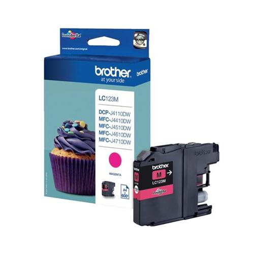 Brother Inkjet Cartridge Page Life 600pp Magenta Ref LC123M | 103482