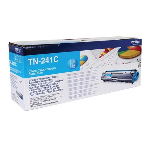 Brother Laser Toner Cartridge Page Life 1400pp Cyan Ref TN241C   104859