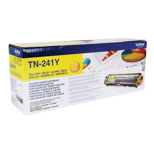 Brother Laser Toner Cartridge Page Life 1400pp Yellow Ref TN241Y   104862