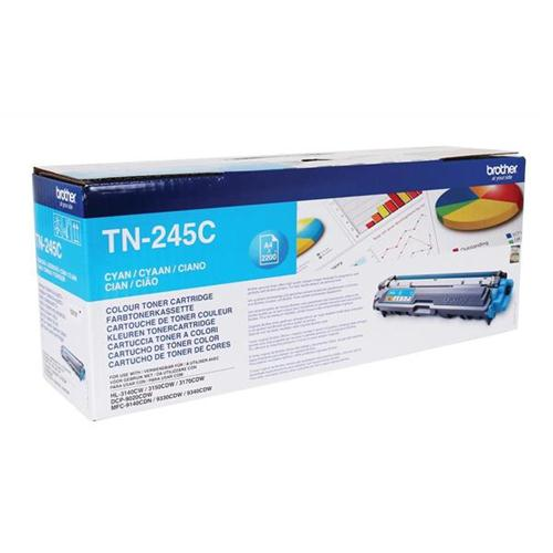 Brother Laser Toner Cartridge Page Life 2200pp Cyan Ref TN245C   104865
