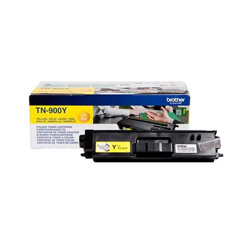 Brother Laser Toner Cartridge Super High Yield Page Life 6000pp Yellow Ref TN900Y | 112072