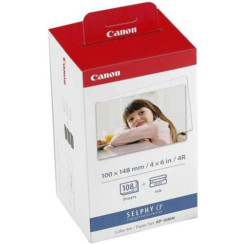 Canon KP-108IN Inkjet Cartridge Colour Multipack and Photo Paper Ref 3115B001AA   116355