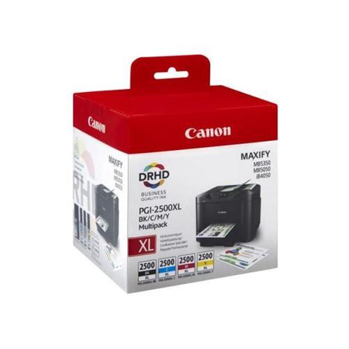 Canon PGI-2500XL Inkjet Cartridge Cyan/Magenta/Yellow/Black Multipack Ref 9254B004AA [Pack 4] | 123302