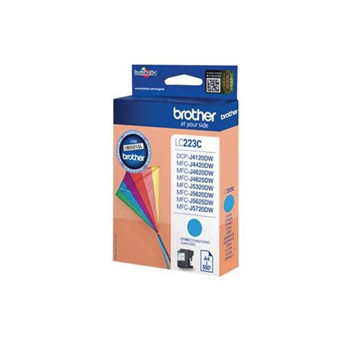 Brother Inkjet Cartridge 5.9ml Page Life 550pp Cyan Ref LC223C   123304