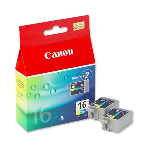 Canon BCI-16 Colour Ink Cartridge BCI-16CL Ref 9818A002 [Pack 2] | 123545