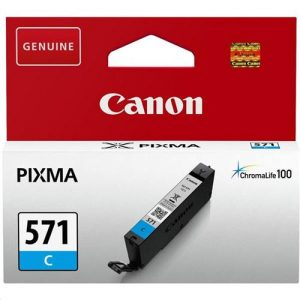 Canon CLI-571 InkJet Cartridge Page Life 340pp Cyan Ref 0386C001 | 132849