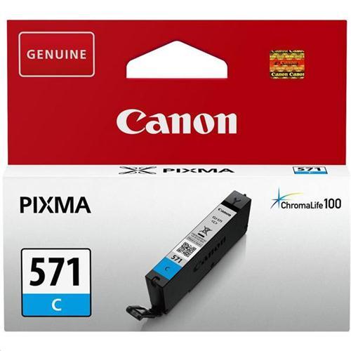 Canon CLI-571 InkJet Cartridge Page Life 340pp Cyan Ref 0386C001   132849
