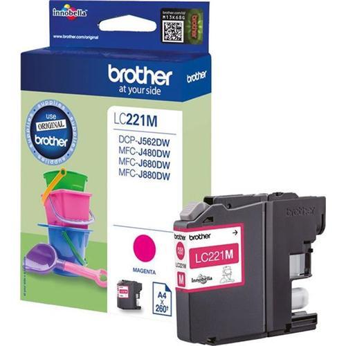 Brother LC221M Inkjet Cartridge Magenta Ref LC221M | 132907