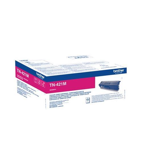 Brother TN421M Toner Cartridge Page Life 1800pp Magenta Ref TN421M | 141684