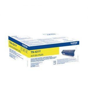 Brother TN421Y Toner Cartridge Page Life 1800pp Yellow Ref TN421Y | 142798