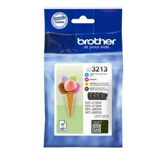 Brother LC3213 Ink Cartridge Multipack High Yield Black/Cyan/Magenta/Yellow [Pack 4] Ref LC3213VAL | 150169