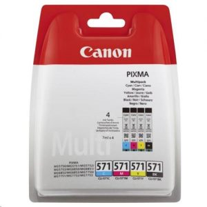 Canon CLI-571 Inkjet Cartridges Page Life 1330pp C/M/Y/K Ref 0386C005 [Pack 4]   152376