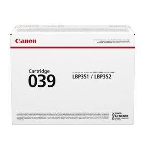 Canon CRG 039 Laser Toner Cartridge Black Ref 0287C001 | 158690