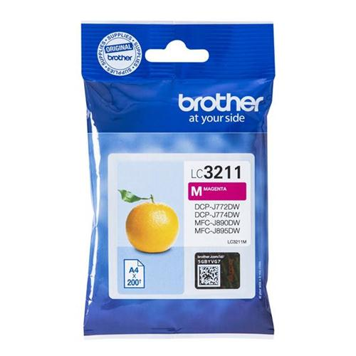 Brother LC3211M Inkjet Cartridge Page Life 200pp Magenta Ref LC3211M | 160727