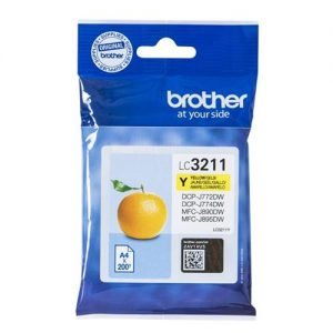 Brother LC3211Y Inkjet Cartridge Page Life 200pp Yellow Ref LC3211Y | 161844