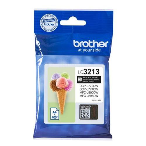 Brother LC3213BK Inkjet Cartridge Page Life 400pp Black Ref LC3213BK | 163038