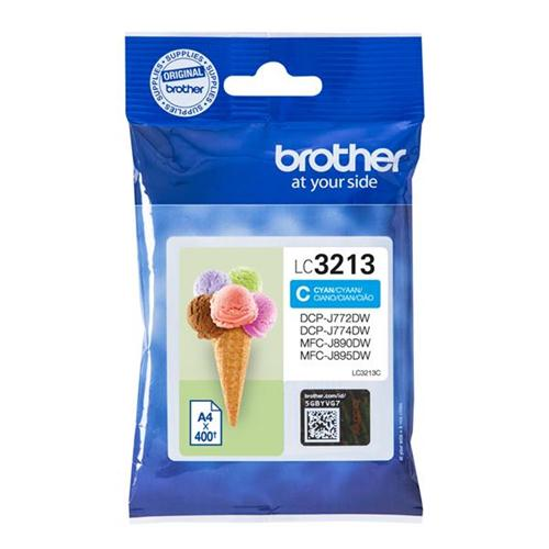 Brother LC3213C Inkjet Cartridge Page Life 400pp Cyan Ref LC3213C | 164219