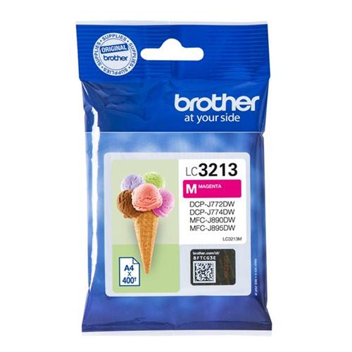 Brother LC3213M Inkjet Cartridge Page Life 400pp Magenta Ref LC3213M   165457