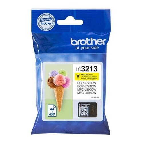 Brother LC3213Y Inkjet Cartridge Page Life 400pp Yellow Ref LC3213Y   166690