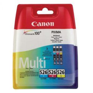 Canon CLI-526 Inkjet Cartridge Page Life 1349pp Cyan/Magenta/Yellow Ref 4541B006 [Pack 3]   223925
