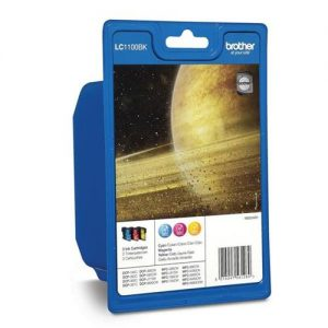 Brother Inkjet Cartridge Page Life 975pp Cyan/Magenta/Yellow Ref LC1100RBWBP [Pack 3] | 233435