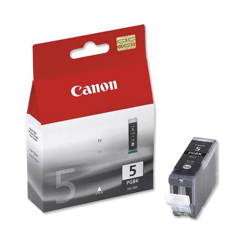 Canon PGI-5BK Inkjet Cartridge Page Life 1040pp Black Ref 0628B025 [Pack 2]   233768
