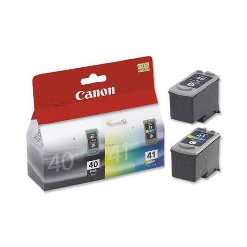 Canon PG-40/CL-41 Inkjet Cartridge Page Life 663pp Black/Colour Ref 0615B036 [Pack 2] | 255151