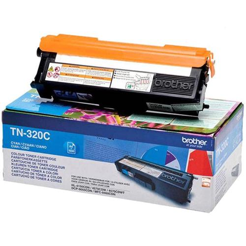Brother Laser Toner Cartridge Page Life 1500pp Cyan Ref TN320C   256244