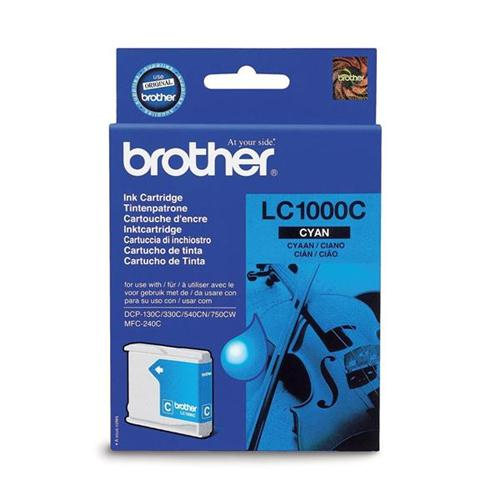 Brother Inkjet Cartridge Page Life 400pp Cyan Ref LC1000C | 346572