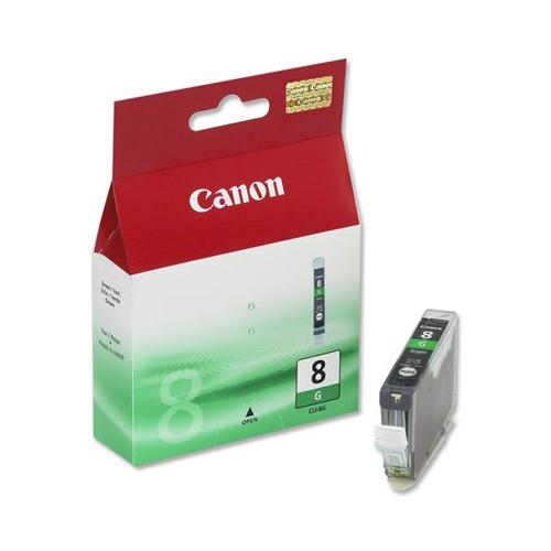 Canon CLI-8 Inkjet Cartridge Page Life 430pp Green Ref 0627B001 | 470914