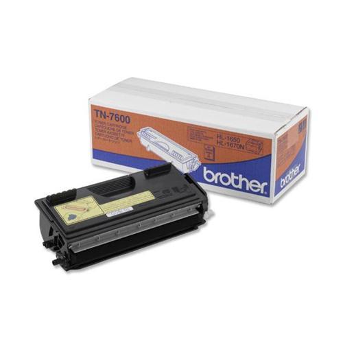 Brother Laser Toner Cartridge Page Life 6500pp Black Ref TN7600 | 523339