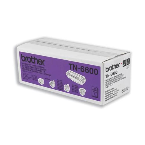 Brother Fax Laser Toner Cartridge Page Life 6000pp Black Ref TN6600   659297