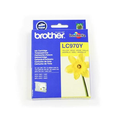 Brother Inkjet Cartridge Page Life 300pp Yellow Ref LC970Y   780522