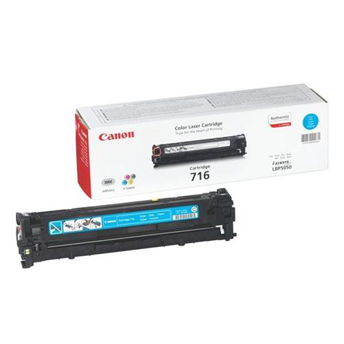 Canon 716C Laser Toner Cartridge Page Life 1500pp Cyan [for LBP5050/5050n] Ref 1979B002   829923