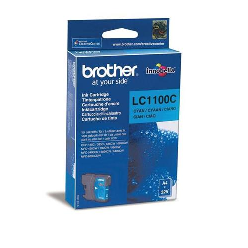 Brother Inkjet Cartridge Page Life 325pp Cyan Ref LC1100C   843666