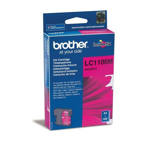 Brother Inkjet Cartridge Page Life 325pp Magenta Ref LC1100M | 843674