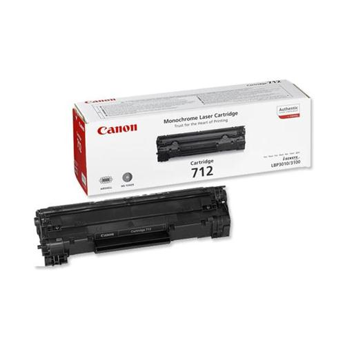 Canon 712 Laser Toner Cartridge Page Life 1500pp Black Ref 1870B002 | 875012