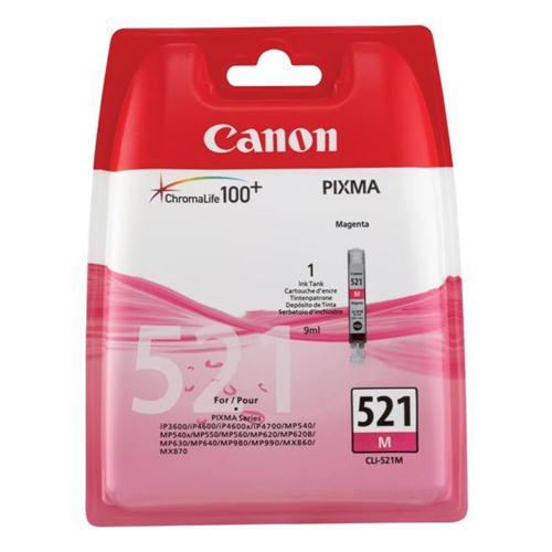 Canon CLI-521M Inkjet Cartridge Magenta Ref 2935B001AA | 875046