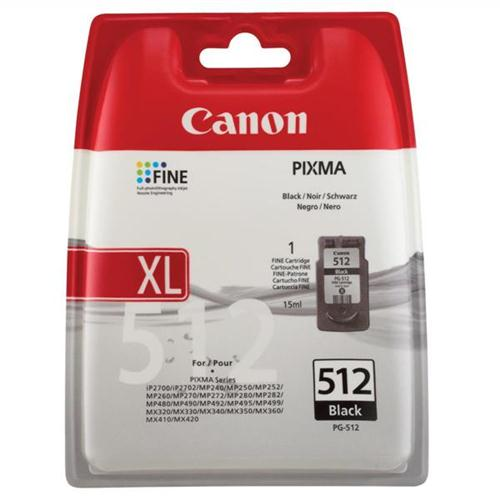 Canon PG-512 Inkjet Cartridge Page Life 401pp Black Ref 2969B001AA | 875096