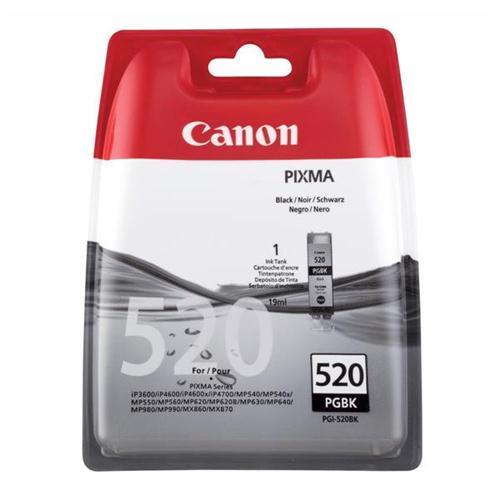 Canon PGI-520BK Inkjet Cartridge 19ml Page Life 324pp Black Ref 2932B001   877698