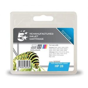 5 Star Office Remanufactured Inkjet Cartridge Page Life 240pp Colour [HP No. 28 C8728AE Alternative] | 923345
